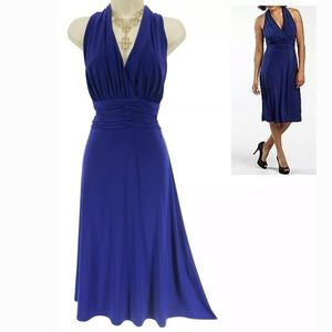 14 Large XL▪️ROYAL BLUE RUCHED WAIST MIDI DRESS